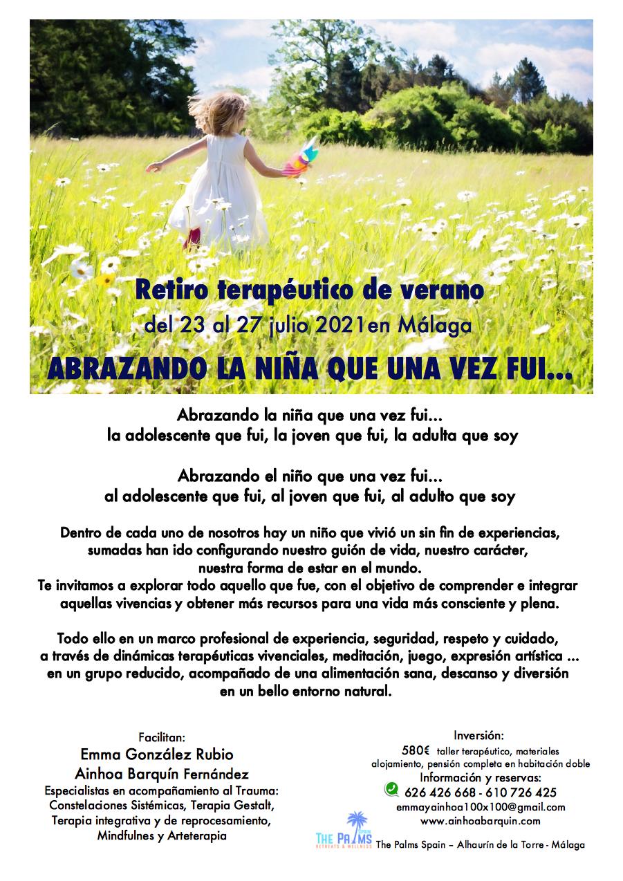 Retiro abrazando al niño interior julio Málaga